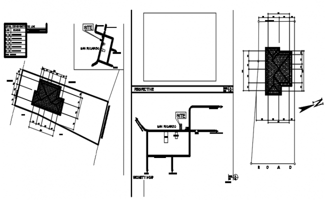 Autocad drawing of roof plan
