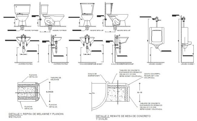 Autocad drawing of sanitary detail
