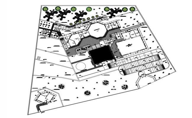 Autocad drawing of school
