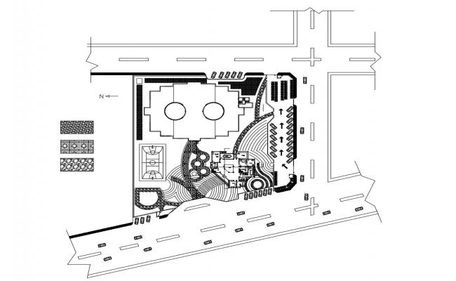 Autocad drawing of school master plan