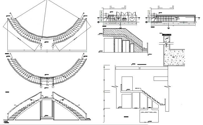 Staircase AutoCAD Drawings