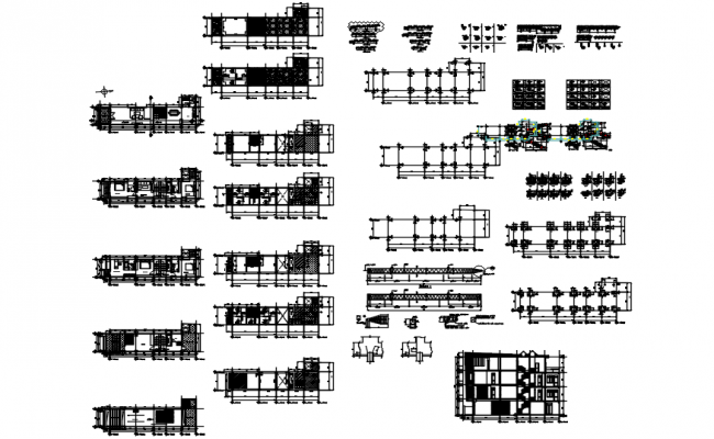 Autocad drawing of the apartment with furniture