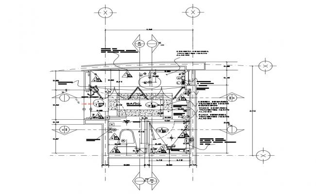 Autocad drawing of the bathroom