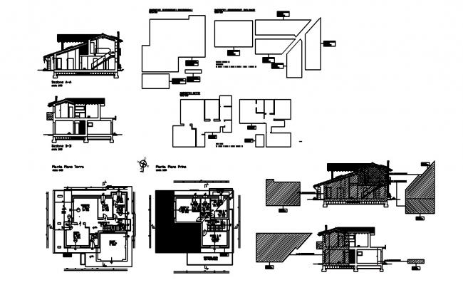 Villa Plan Design In DWG File