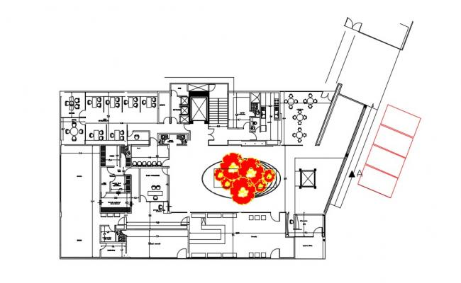 Drawing of clinic plan in AutoCAD