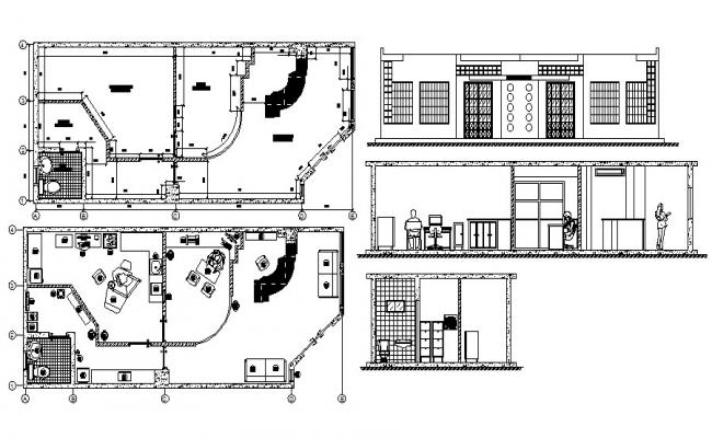 Autocad drawing of the clinic with detail dimension in dwg file