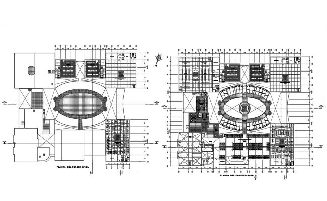 Autocad drawing of the commercial complex