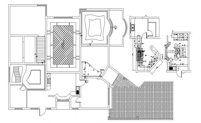 Luxury House Floor Plan In AutoCAD File