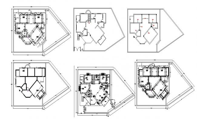 Residential House Layout Plan In AutoCAD File