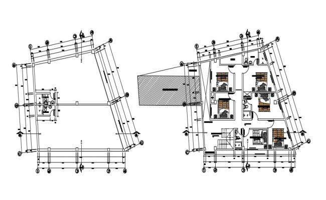 Download Free Small 2 Storey House Design In DWG File