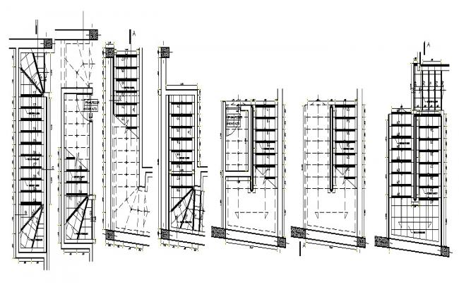 Autocad drawing of the staircase