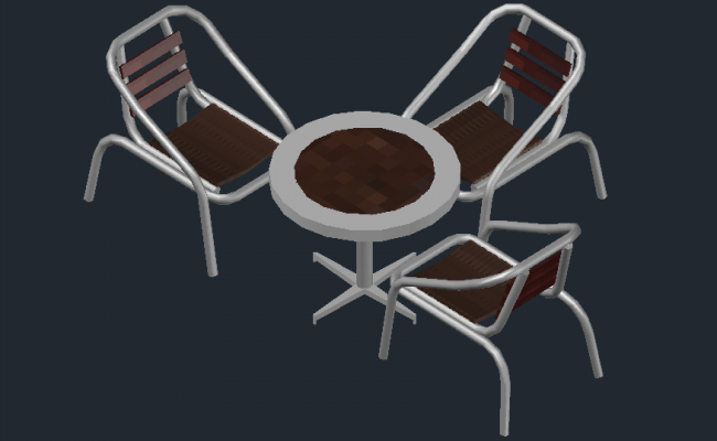 Autocad drawing of the table in 3D