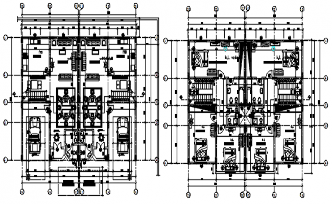 Autocad drawing of the villa