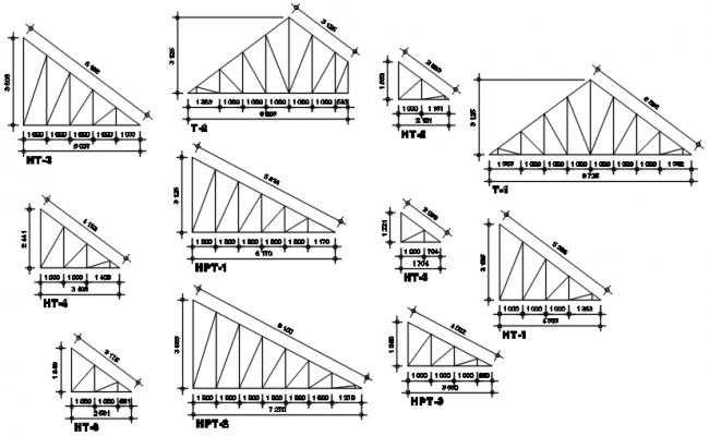 Autocad drawing of truss detail