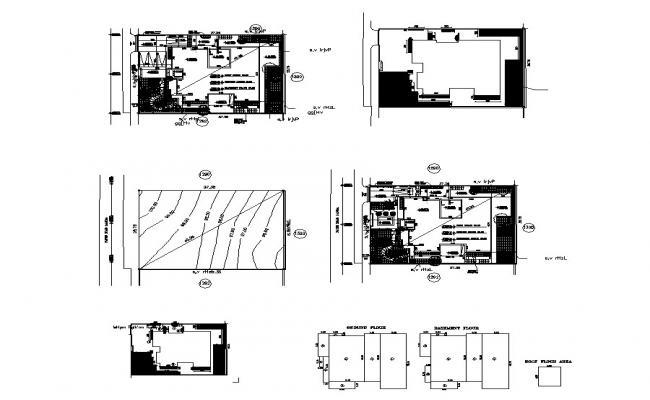 Autocad drawing of villa