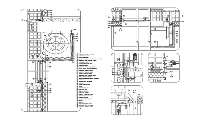 Autocad drawing of window detail