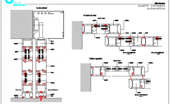 Automatic Sliding Door Installation Details Dwg File