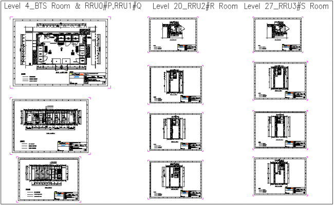 BTS room construction detail with ladder and concrete view dwg file