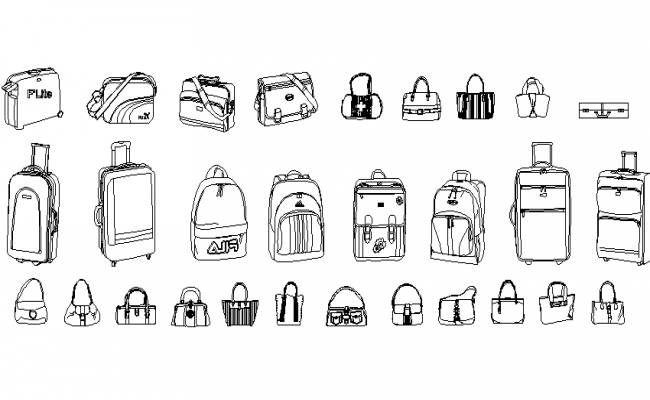 Free Bag Design AutoCAD Drawings
