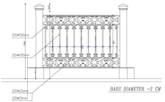 Balcony Railing Free CAD Blocks