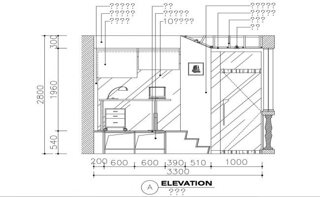 Balcony decoration and elevation of house cad drawing details dwg file