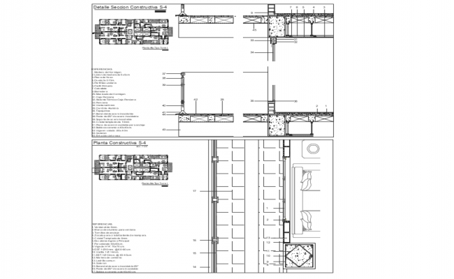 Construction Section Plan Detail Free AutoCAD Drawings