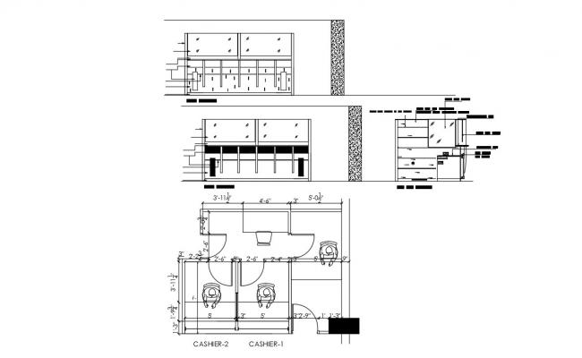 Bank Building Plan Drawing