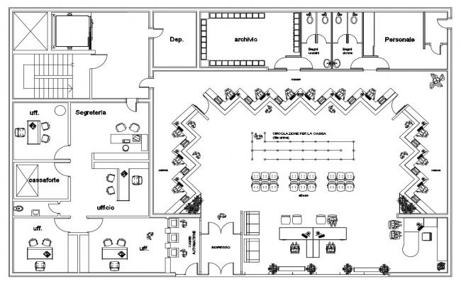 Bank Floor Plan Design