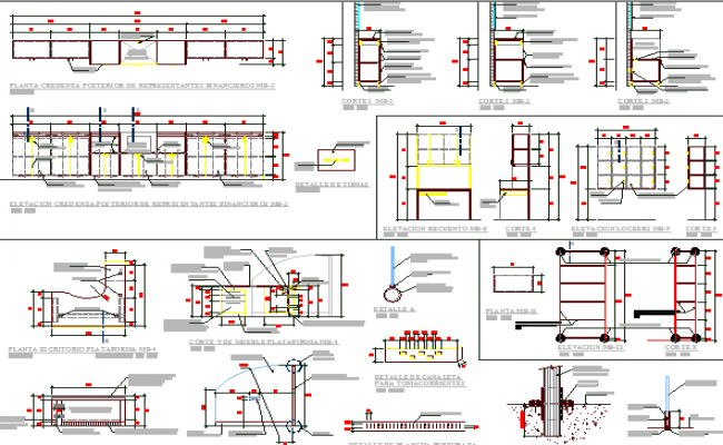 Bank Office Architecture Project dwg file