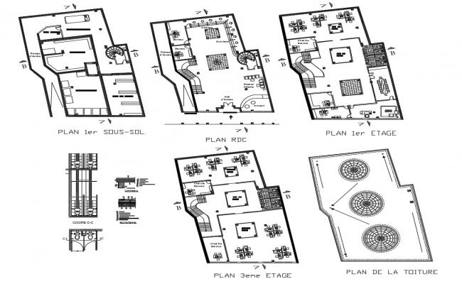 Bank Plan AutoCAD Drawing Download