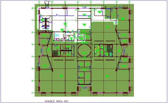 Bank architectural plan view dwg file