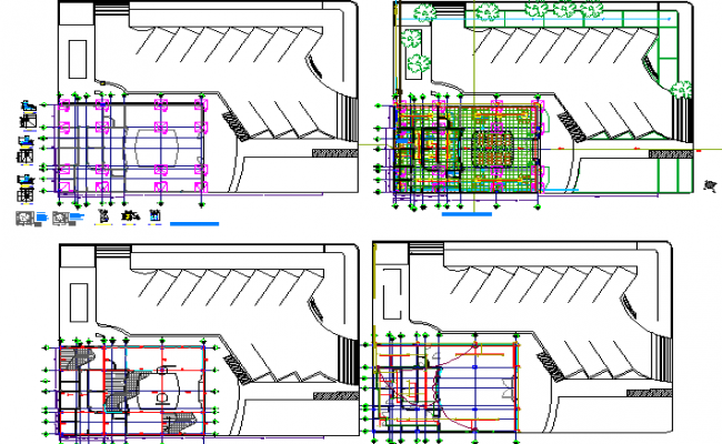 Bank floor general layout plan details dwg file