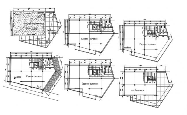 Bank layout plan detail