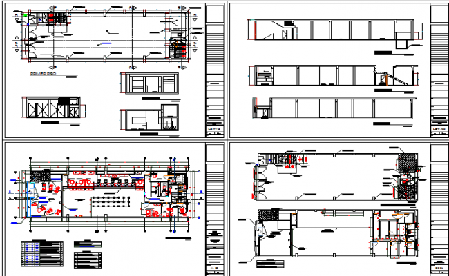 Bank office building sectional and floor plan layout details dwg file