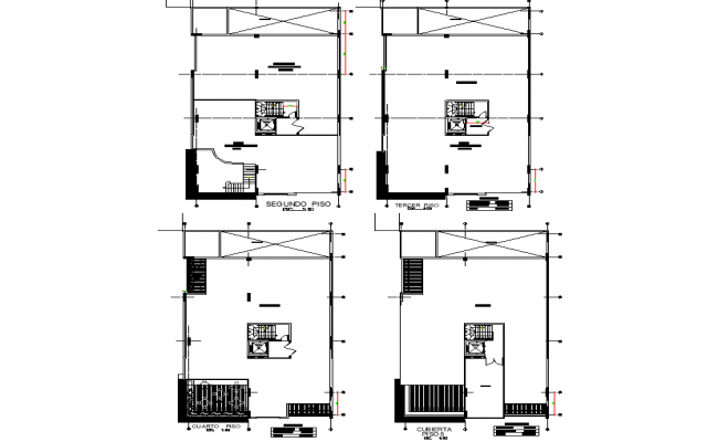 Bank plan detail dwg file