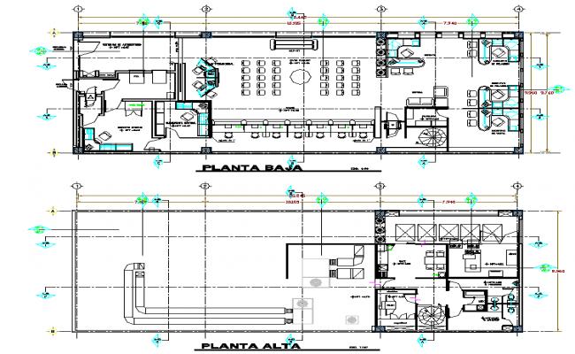 Bank plan detail dwg file