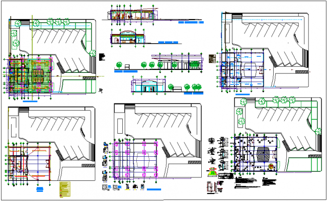 Bank Project Design With Architectural Hydraulic And