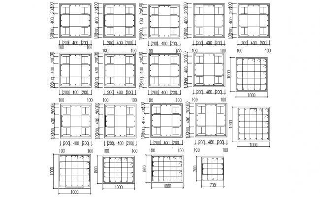 Bar Bending Design AutoCAD File Free