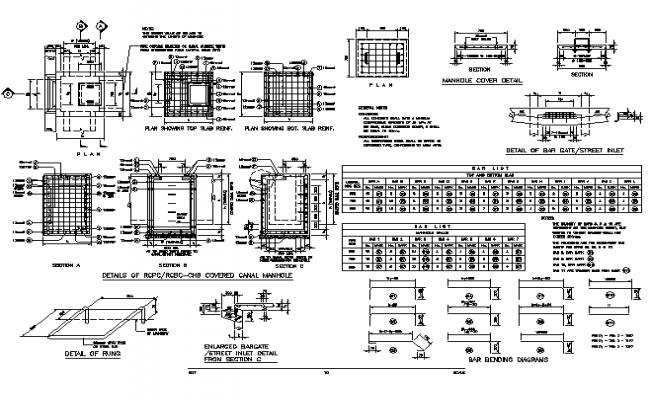 Bar bending diagram detail dwg file