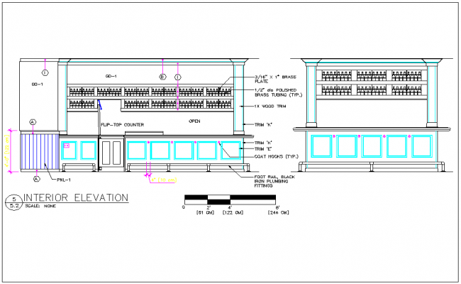Bar room detail dwg file - Divanetti bar dwg ...