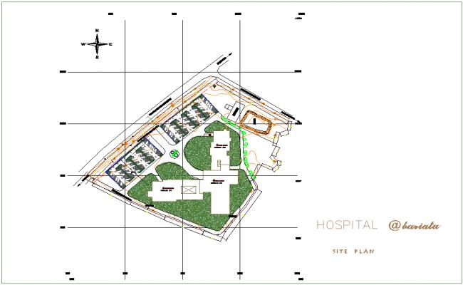 Barbarian hospital site plan dwg file