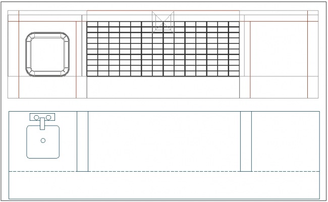 Barbecue restaurant fire place grill details dwg file