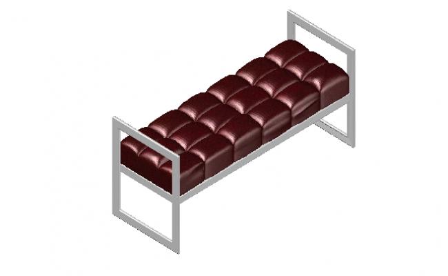 Barcelona bench 3d details
