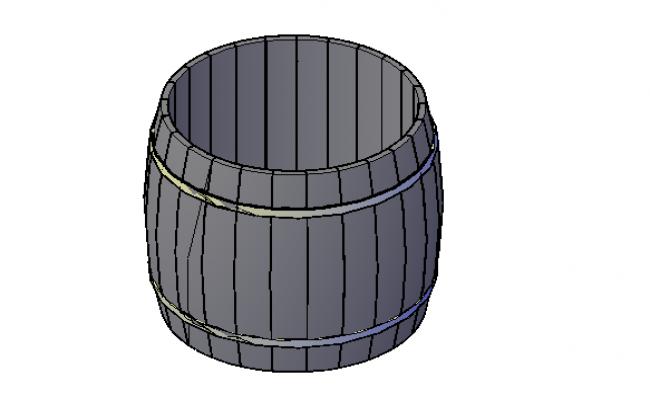 Barrel drum storage 3d details