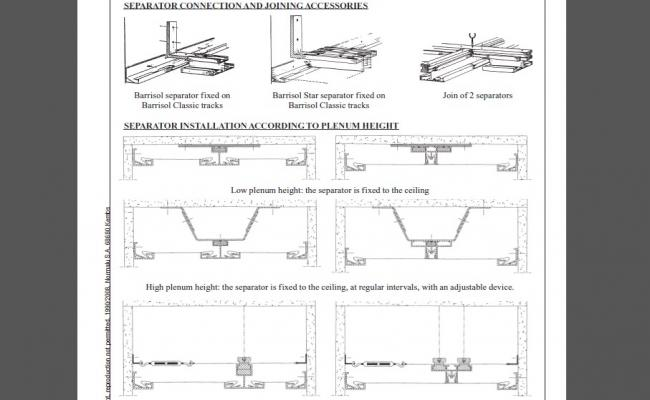 Barrisol Installation And Connection Joints Cad Drawing