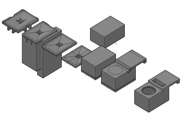 Base for 3 d transformer plan dwg file