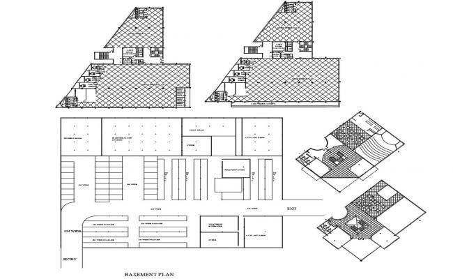 Basement Design Plan CAD File