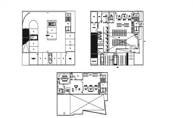 Basement Layout Plan In DWG File