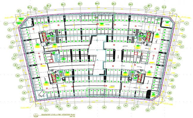 Basement Parking Layout Plan CAD Drawing Download