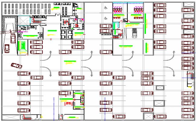 basement floor layout plan of high rise court house dwg file rh cadbull com